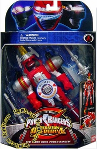 Power Rangers Operation Overdrive Mach Morphin Turbo Drill Action Figure Red Ranger