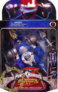 Power Rangers Operation Overdrive Mach Morphin Turbo Drill Action Figure Blue Ranger