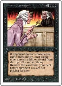 Magic the Gathering Unlimited Edition Single Card Rare Demonic Attorney