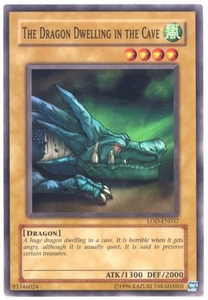 YuGiOh Legacy of Darkness Single Card Common LOD-037 The Dragon Dwelling in the Cave