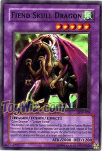 YuGiOh Legacy of Darkness Single Card Super Rare LOD-039 Fiend Skull Dragon