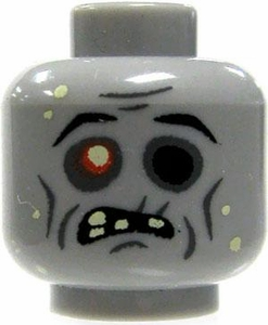 Citizen Brick Custom Printed LOOSE Head Zombie Head with Empty Eye Socket