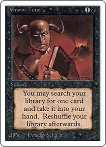 Magic the Gathering Unlimited Edition Single Card Uncommon Demonic Tutor
