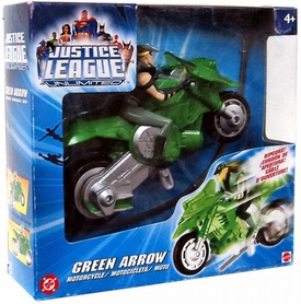 Justice League Unlimited Action Figure Motorcycle Green Arrow