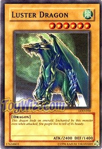 YuGiOh Legacy of Darkness Single Card Super Rare LOD-050 Luster Dragon