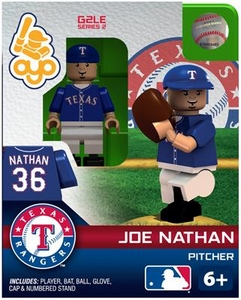 OYO Baseball MLB Generation 2 Building Brick Minifigure Joe Nathan [Texas Rangers]