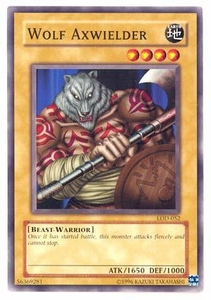 YuGiOh Legacy of Darkness Single Card Common LOD-052 Wolf Axwielder