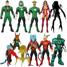 Green Lantern Classics Series 2 Set of 6 Action Figures {Random RED & GREEN Lanterns} [Build Stel Figure]