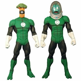 Green Lantern Classics Series 2 Action Figure Medphyll OR Naut Ke Loi [Build Stel Piece]