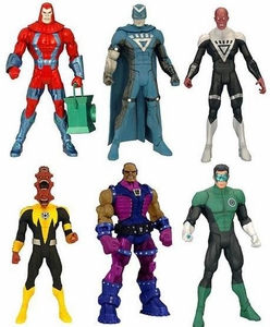 Green Lantern Classics Series 1 Set of 6 Action Figures {RANDOM Low OR Maash} [Build Arkillo Figure]