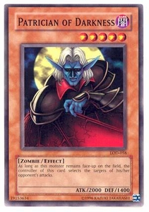YuGiOh Legacy of Darkness Single Card Common LOD-058 Patrician of Darkness