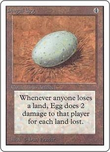 Magic the Gathering Unlimited Edition Single Card Rare Dingus Egg