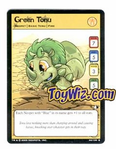 Neopets Trading Card Game Lost Desert Single Card Uncommon 44/100 Green Tonu