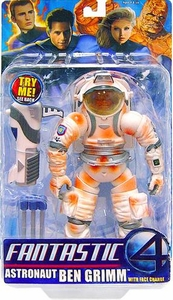 Fantastic Four Movie Action Figure Astronaut Ben Grimm with Face Change Bloody  [Orange]