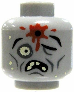 Citizen Brick Custom Printed LOOSE Head Zombie Head  [Headshot]