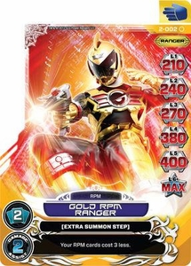 Power Rangers Action Card Game Guardians of Justice Single Card Common 2-002 Gold R.P.M. Ranger
