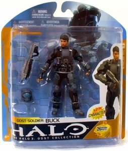 Halo 3 McFarlane Toys Series 8 Action Figure ODST Soldier: Buck COLLECTOR'S CHOICE!