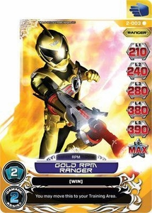 Power Rangers Action Card Game Guardians of Justice Single Card Rare 2-003 Gold R.P.M. Ranger