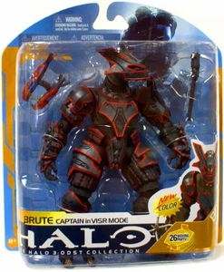 Halo 3 McFarlane Toys Series 8 Action Figure Brute Captain [VISR Mode]