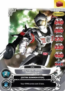 Power Rangers Action Card Game Guardians of Justice Single Card Common 2-004 Silver R.P.M. Ranger