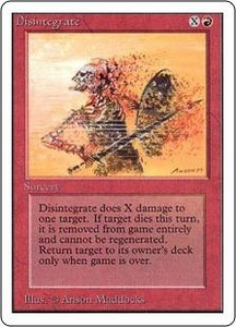 Magic the Gathering Unlimited Edition Single Card Common Disintegrate