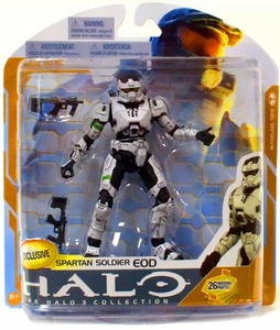 Halo 3 McFarlane Toys Series 8 Exclusive Action Figure WHITE Spartan Soldier EOD