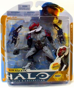 Halo 3 McFarlane Toys Series 8 Action Figure SILVER Elite Ascetic