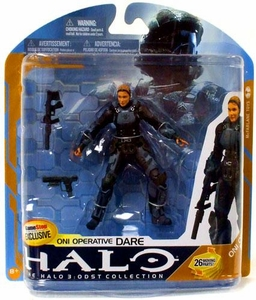 Halo 3 McFarlane Toys Series 8 Exclusive Action Figure ONI Operative Dare [No Helmet]