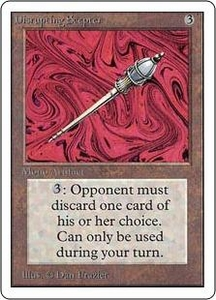 Magic the Gathering Unlimited Edition Single Card Rare Disrupting Scepter