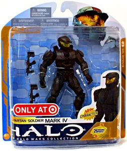 Halo 3 McFarlane Toys Series 8 Exclusive Action Figure BLACK Spartan Soldier Mark IV