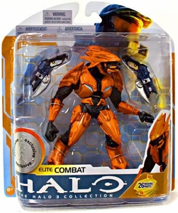 Halo 3 McFarlane Toys Series 8 Exclusive Action Figure ORANGE Elite Combat