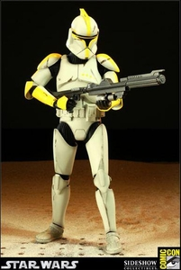 Sideshow Collectibles SDCC 2011 Exclusive Militaries of Star Wars 12 Inch Deluxe Action Figure Clone Commander [Phase 1]