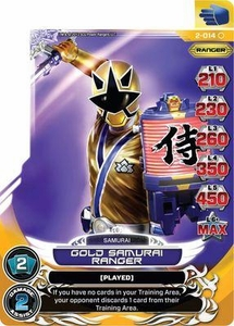 Power Rangers Action Card Game Guardians of Justice Single Card Common 2-014 Gold Samurai Ranger
