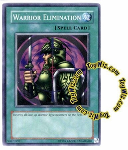 YuGiOh Tournament Pack 7 Single Card Super Rare TP7-EN002 Warrior Elimination