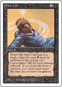 Magic the Gathering Unlimited Edition Single Card Common Drain Life