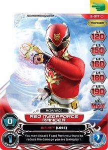 Power Rangers Action Card Game Guardians of Justice Single Card Common 2-017 Red Megaforce Ranger