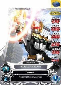 Power Rangers Action Card Game Guardians of Justice Single Card Common 2-019 Robo Knight