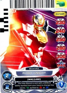 Power Rangers Action Card Game Guardians of Justice Single Card Common 2-022 Robo Knight