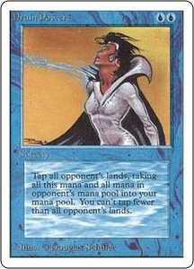 Magic the Gathering Unlimited Edition Single Card Rare Drain Power