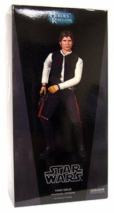 Sideshow Heroes of the Rebellion Collectibles Star Wars 12 Inch Deluxe Action Figure Han Solo: Smuggler [Tatooine]