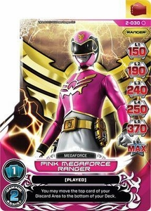 Power Rangers Action Card Game Guardians of Justice Single Card Common 2-030 Pink Megaforce Ranger