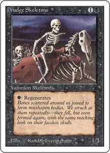 Magic the Gathering Unlimited Edition Single Card Common Drudge Skeletons