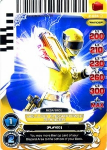 Power Rangers Action Card Game Guardians of Justice Single Card Common 2-034 Yellow Megaforce Ranger