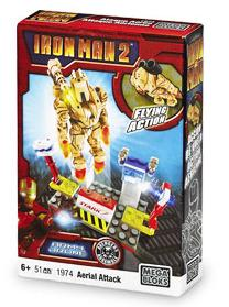 Iron Man 2 Mega Bloks Set #1974 Aerial Attack