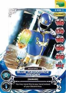 Power Rangers Action Card Game Guardians of Justice Single Card Common 2-036 Blue Megaforce Ranger