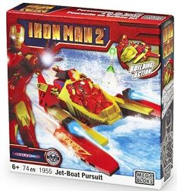 Iron Man 2 Mega Bloks Set #1955 Jet-Boat Pursuit
