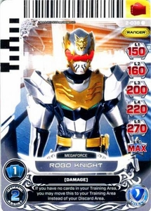 Power Rangers Action Card Game Guardians of Justice Single Card Rare 2-038 Robo Knight