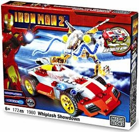 Iron Man 2 Mega Bloks Set #1980 Whiplash Showdown