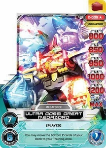Power Rangers Action Card Game Guardians of Justice Single Card Ultra Rare 2-039 Ultra Gosei Great Megazord