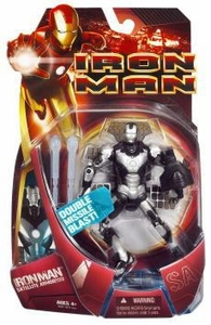 Iron Man Movie Action Figure Satellite Armor Iron Man [Silver Armor with Black Launcher!]